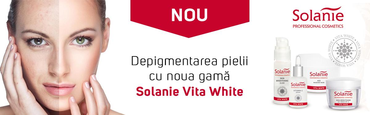 Depigmentarea pielii cu noua gama Solanie Vita White