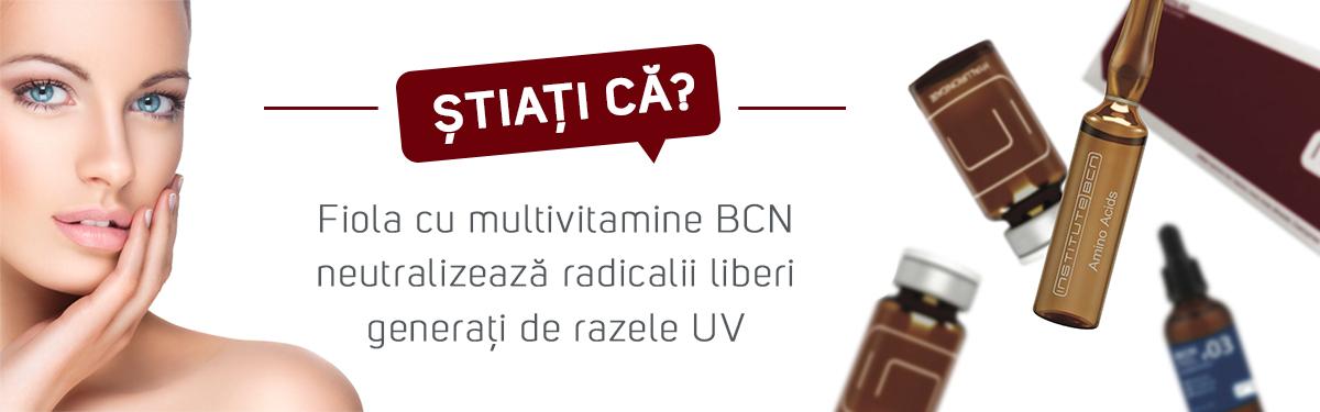 Știați că? Fiola cu multivitamine BCN neutralizează radicalii liberi generați de razele UV