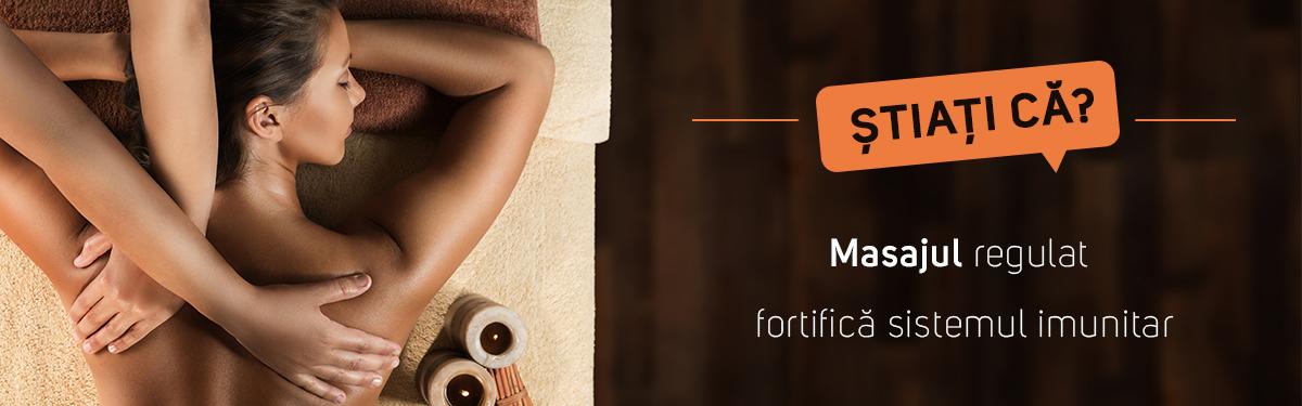 Știați că? Masajul corporal executat cu regularitate îmbunătățește sistemul imunitar al organismului
